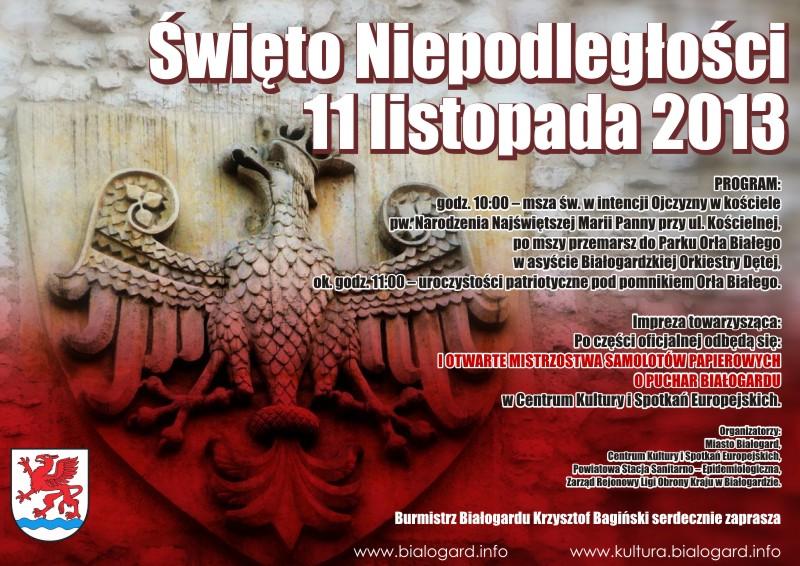 11 Listopada Narodowe święto Niepodległości Informacje