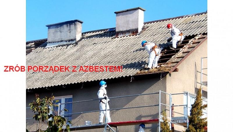 Mniej azbestu