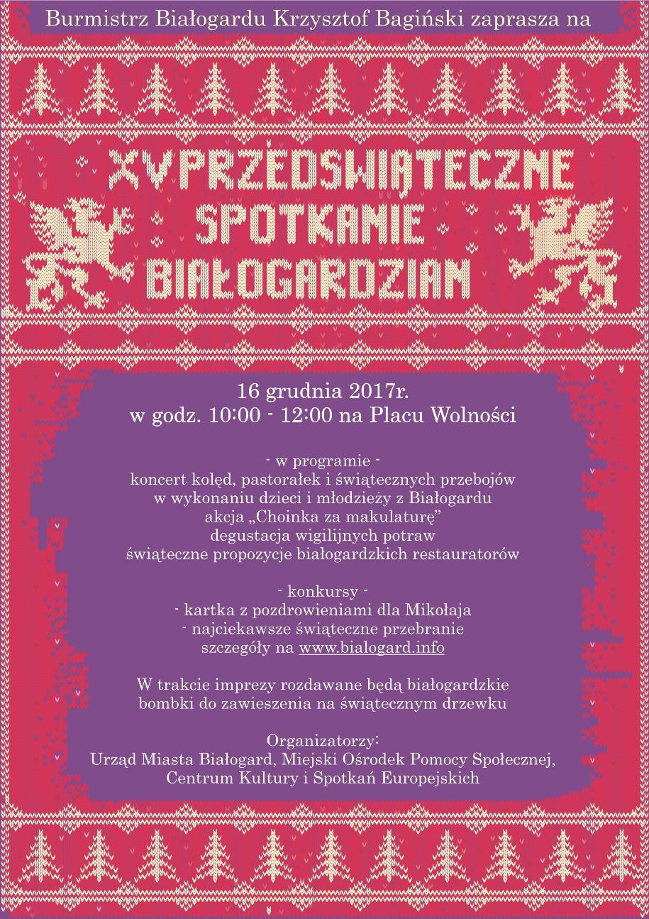 XV Przedświąteczne Spotkanie Białogardzian, Miasto Białogard