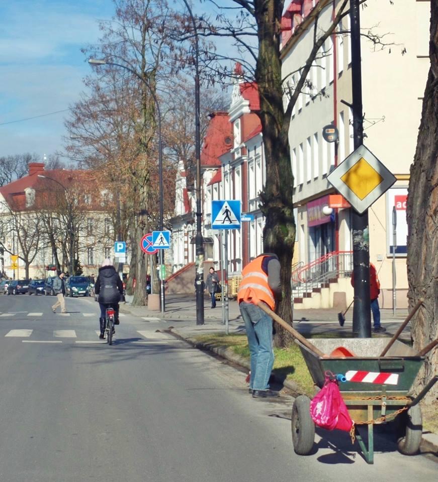 Codzienne prace porządkowe na ulicach Białogardu
