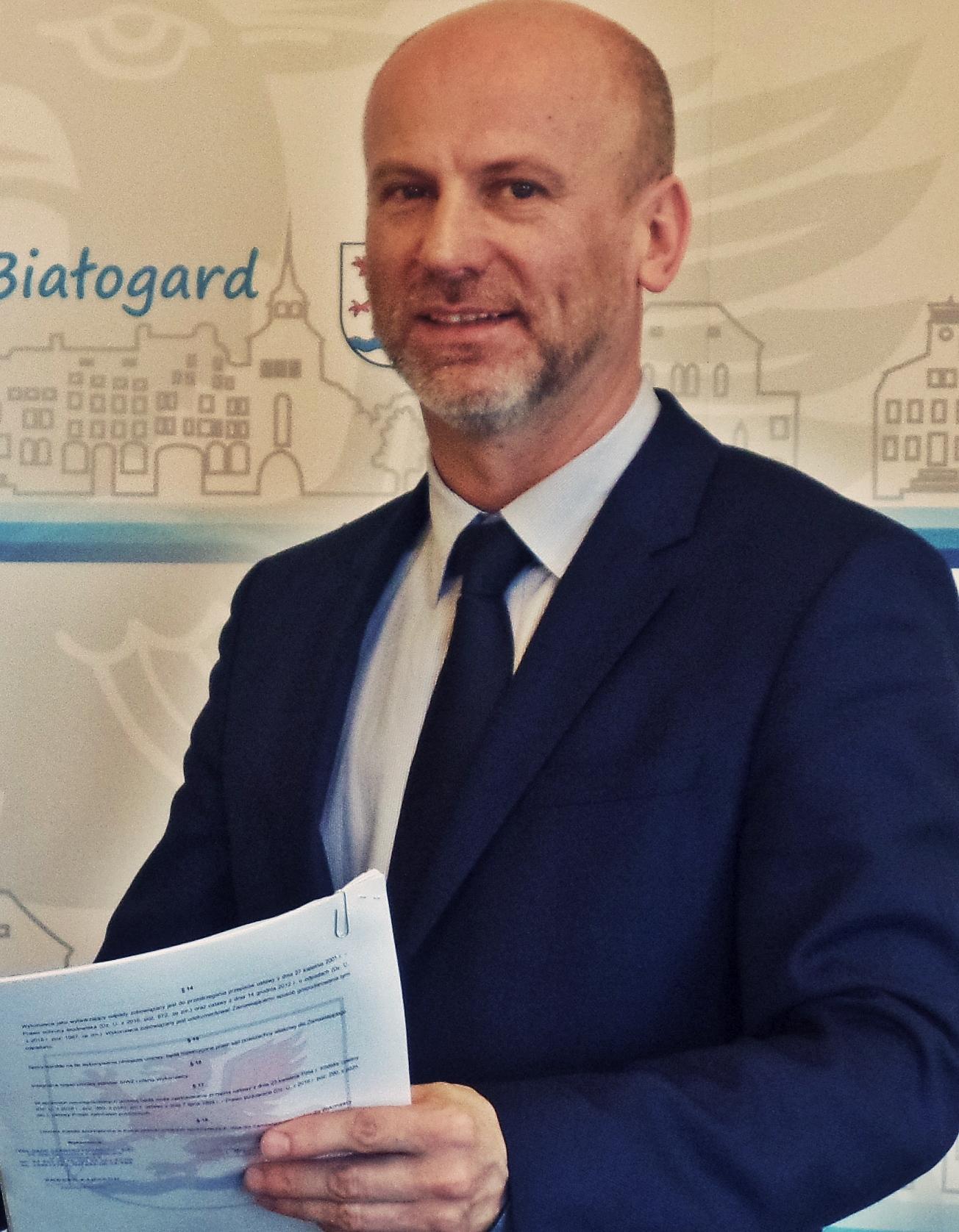 Burmistrz Białogardu Krzysztof Bagiński