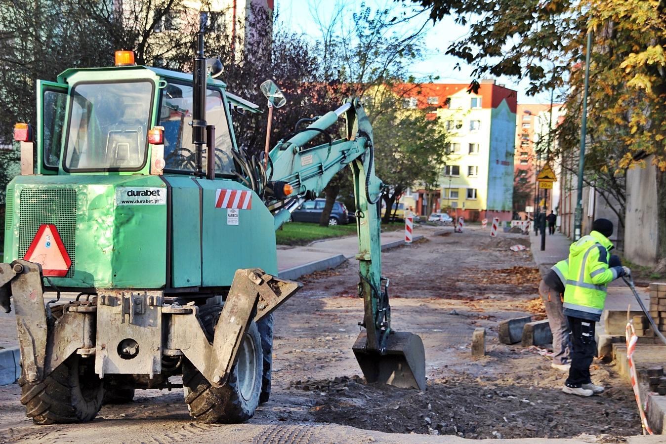 Przebudowa ulicy Lelewela