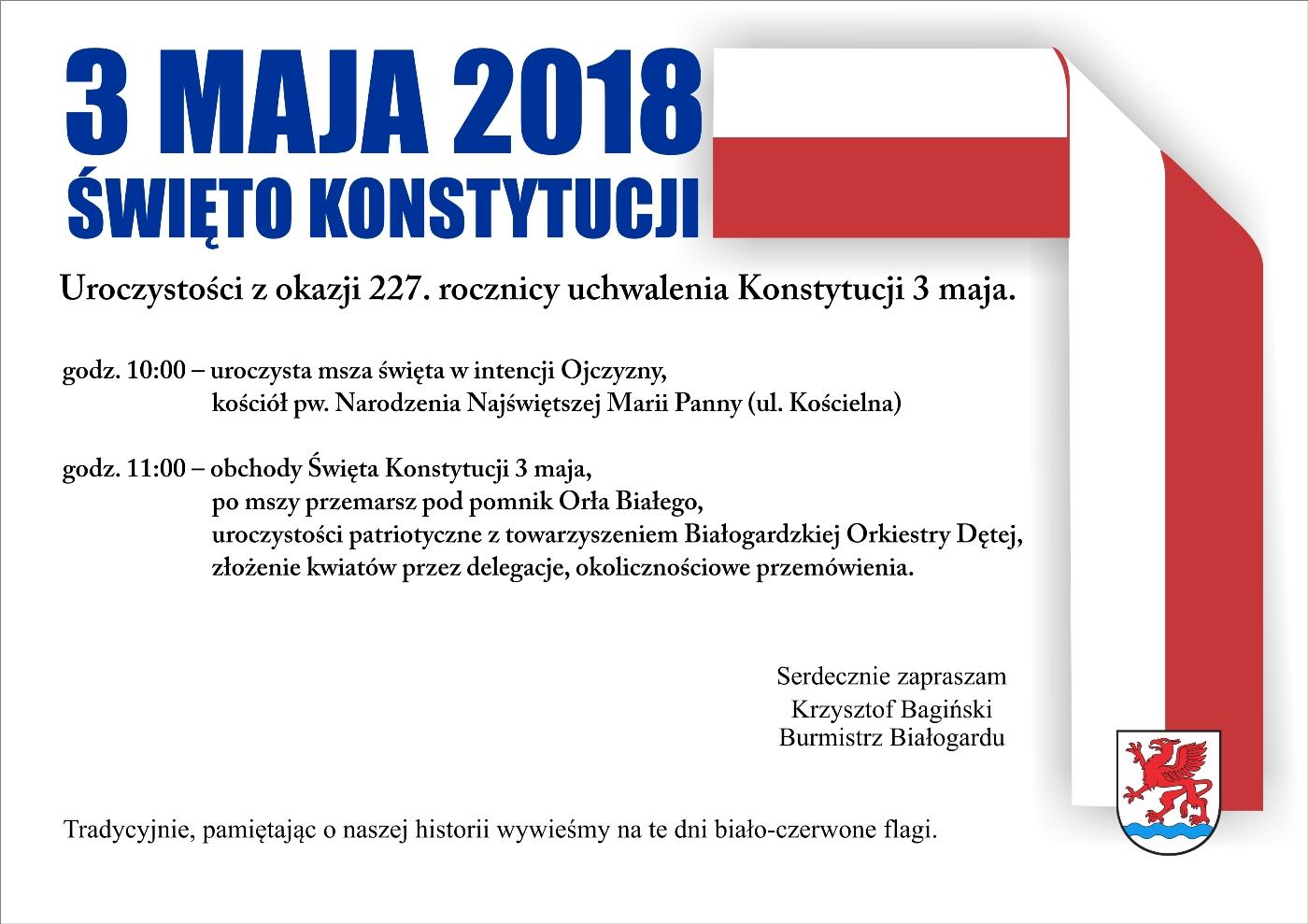 Obchody Święta Konstytucji, Miasto Białogard