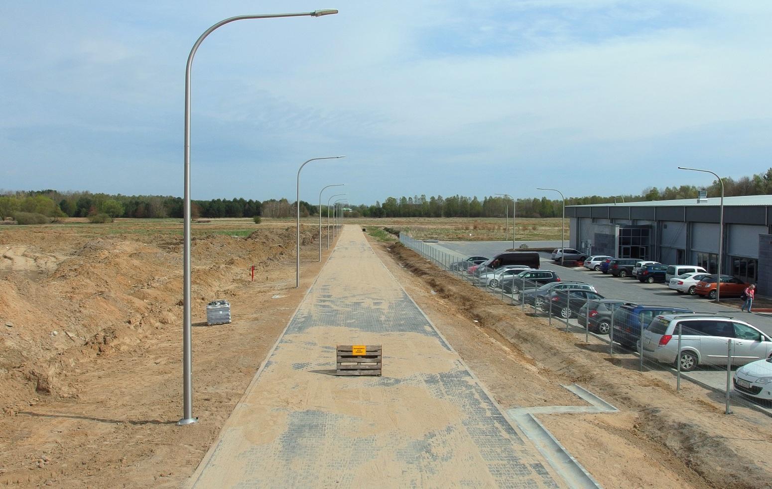 Nowa droga na terenach Invest-Parku, Miasto Białogard