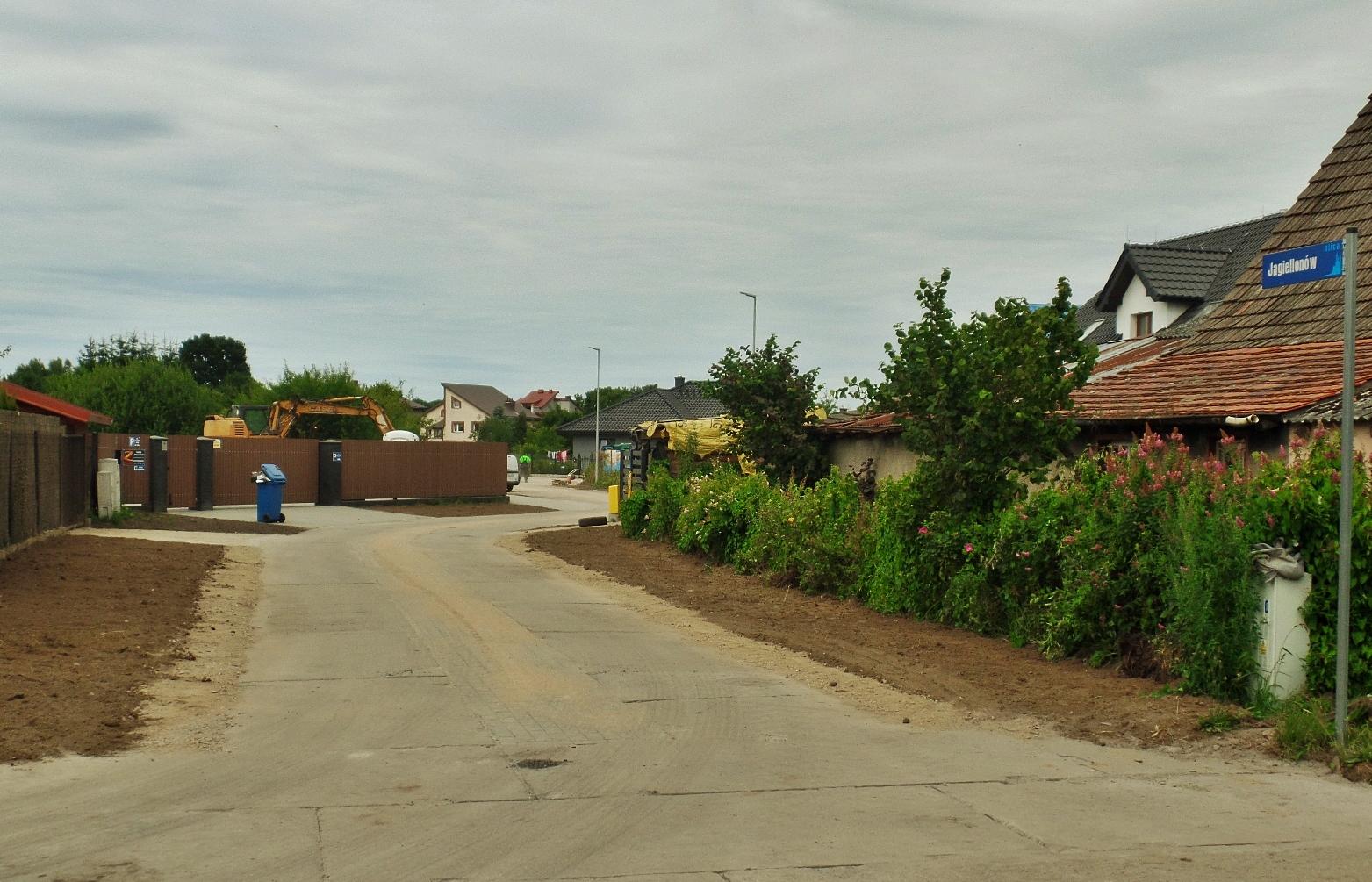 Jagiellonów. Ulica wyremontowana, Miasto Białogard