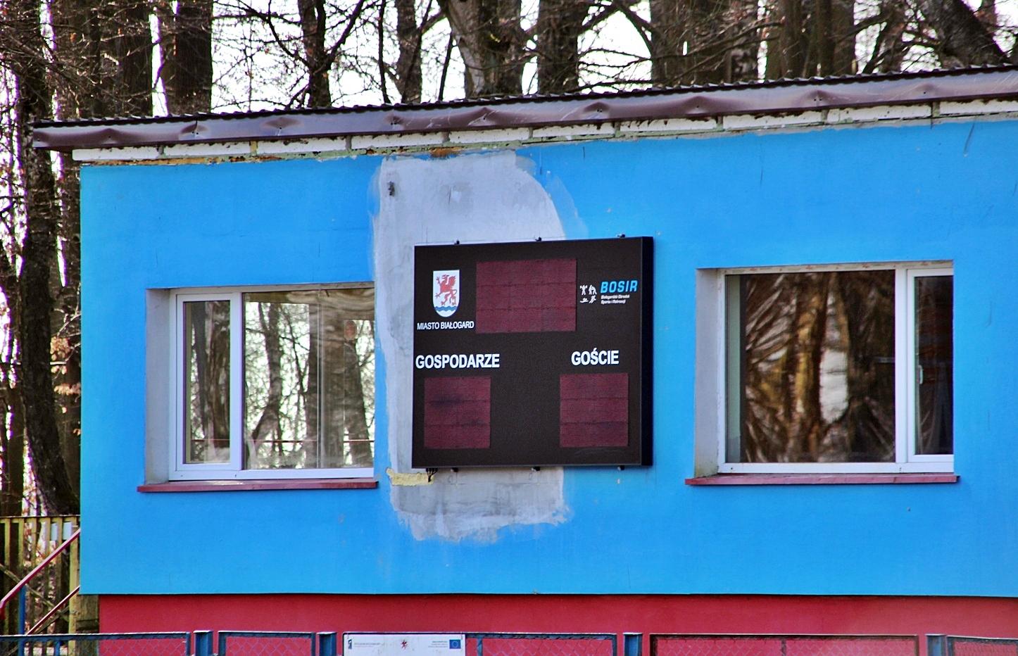 Nowa tablica świetlna na Stadionie Miejskim w Białogardzie