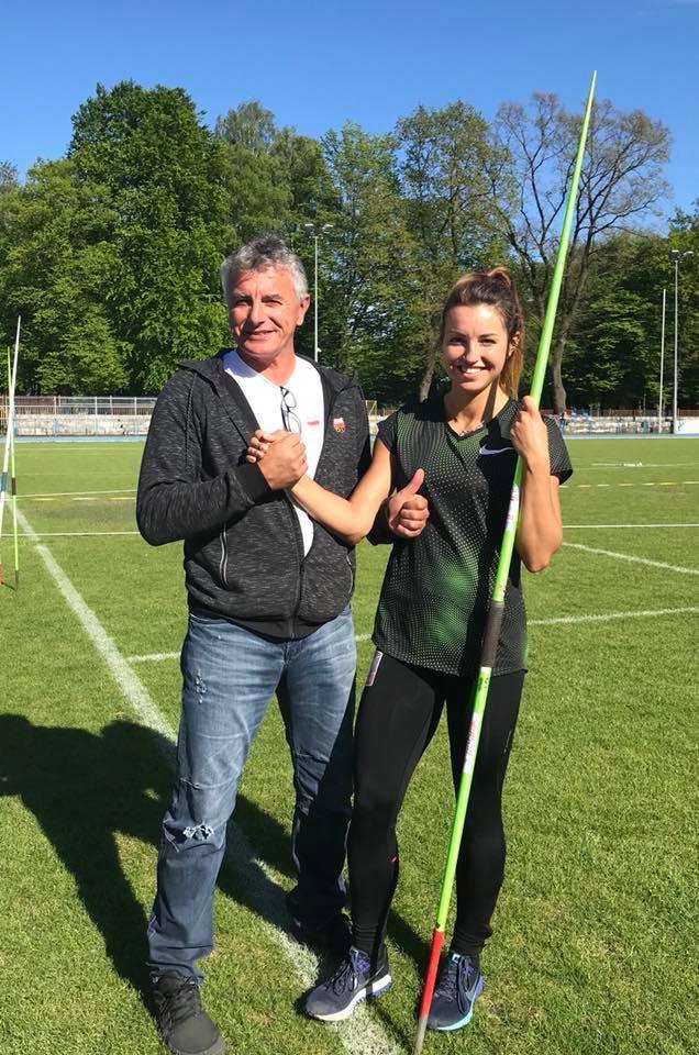 Marcelina Witek wraz z trenerem