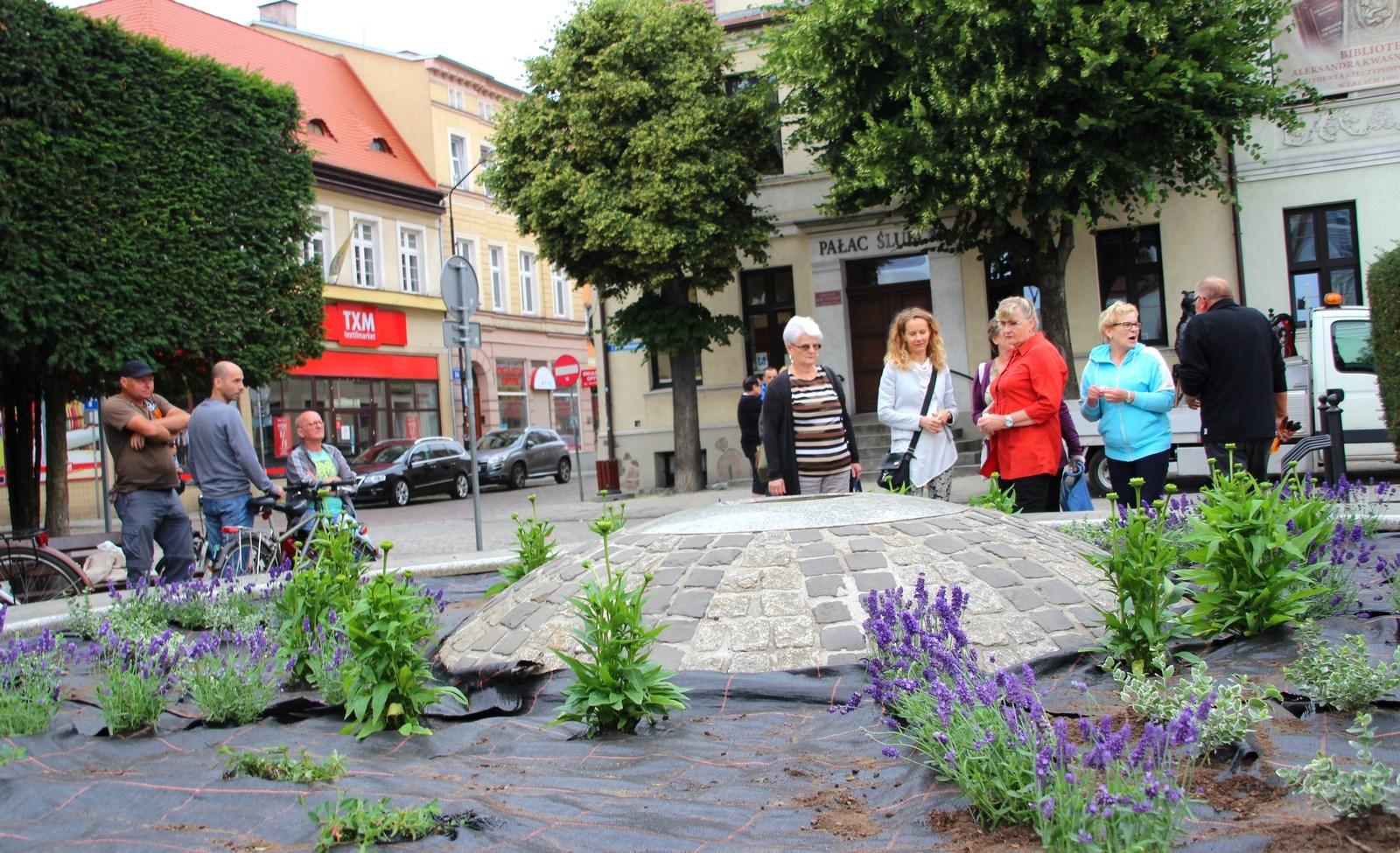 Kwietna fontanna, Miasto Białogard
