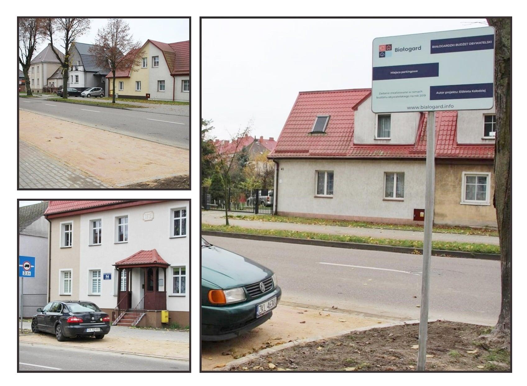 Nowe miejsca parkingowe, Miasto Białogard