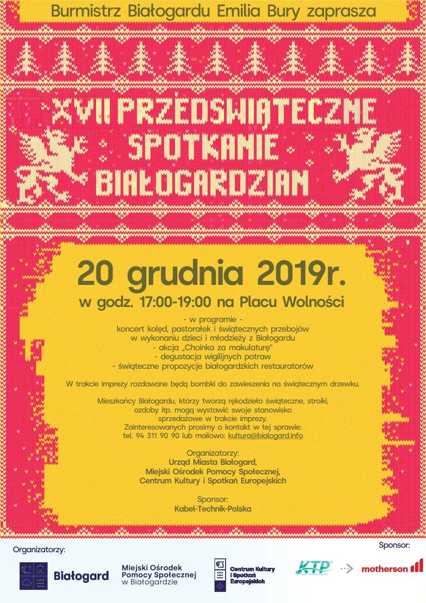 Przedświąteczne Spotkanie Białogardzian, Miasto Białogard