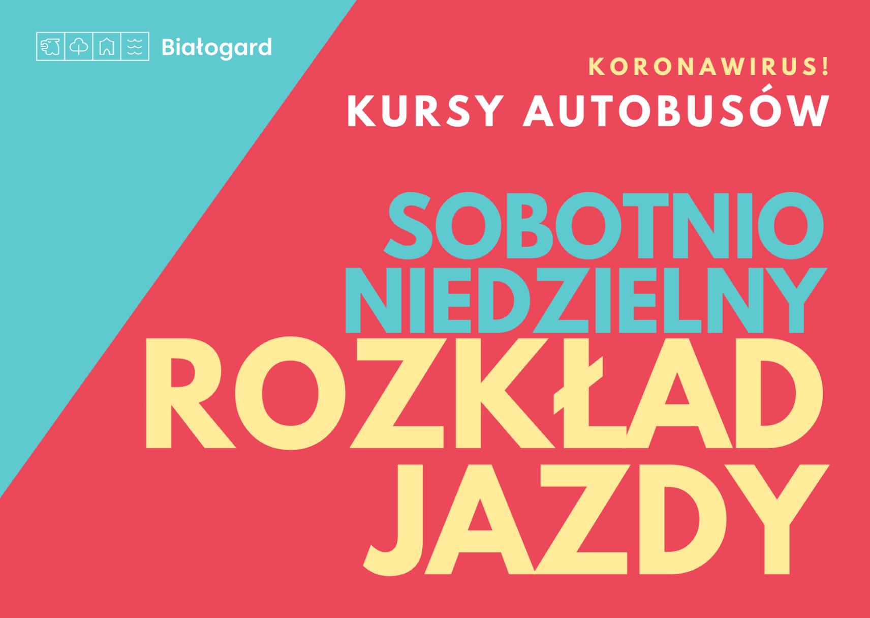 ZKM. Sobotnio-niedzielny rozkład jazdy, Miasto Białogard