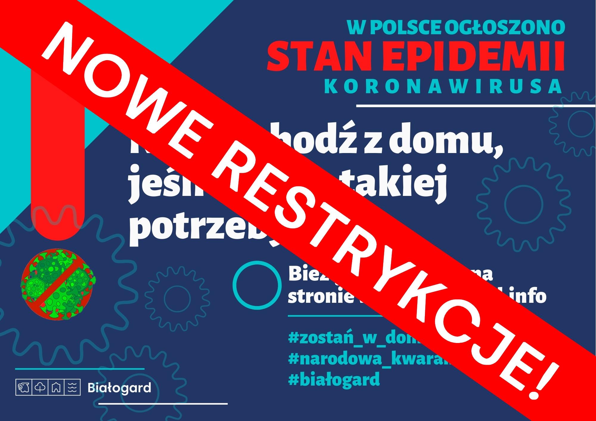 KORONAWIRUS. Nowe obostrzenia! #zostanwdomu, Miasto Białogard