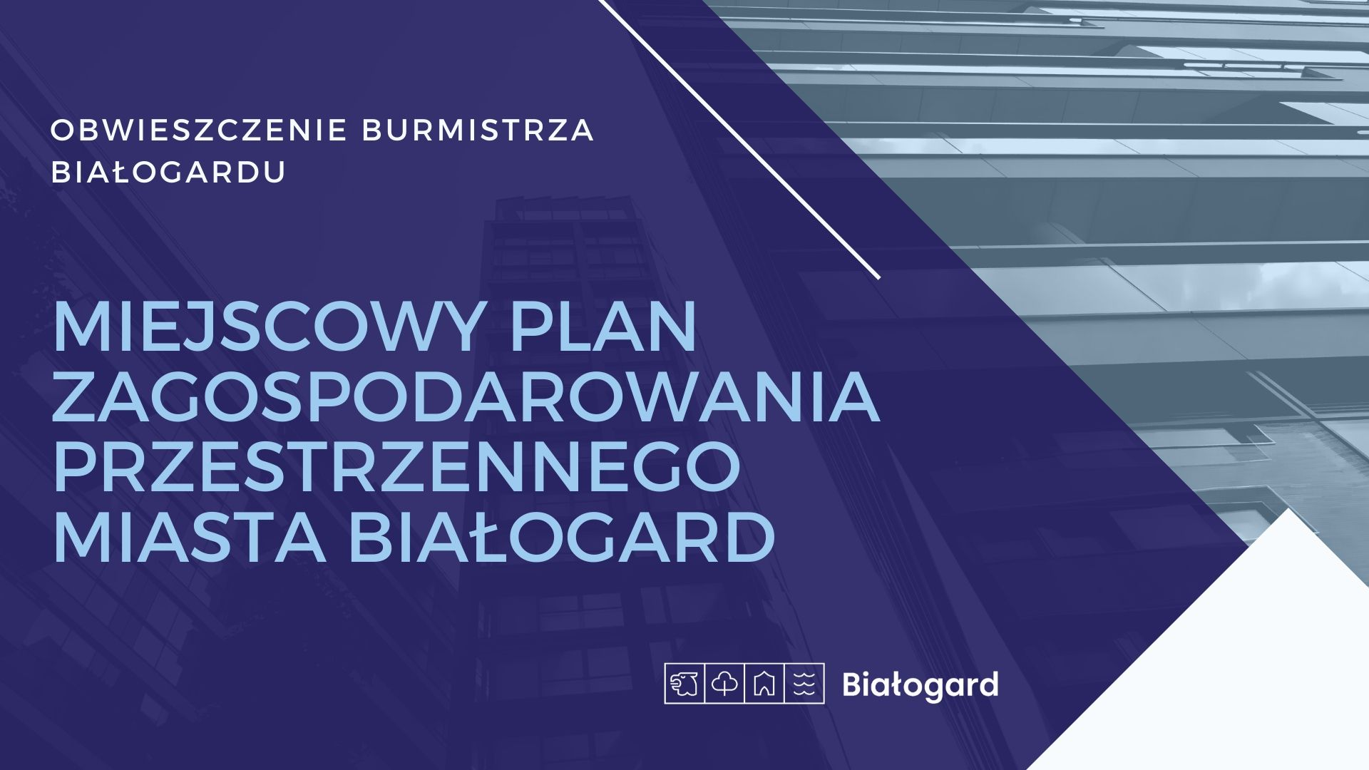 Obwieszczenie Burmistrza, Miasto Białogard