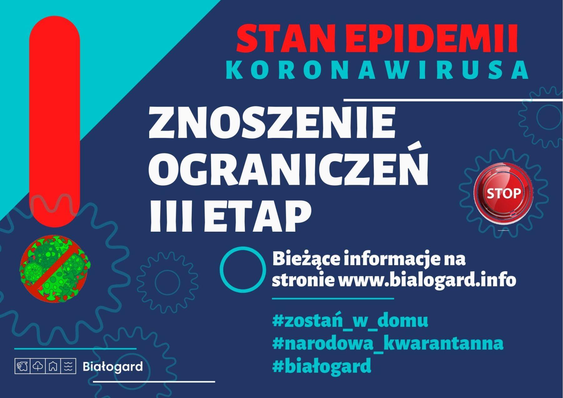 Stan epidemii. III etap znoszenia ograniczeń!, Miasto Białogard