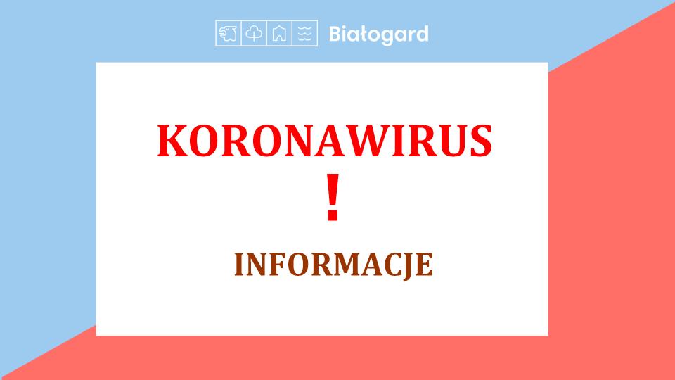 Koronawirus. Kontakt z białogardzkim Urzędem Miasta